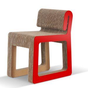 Kartonová židle Hook Red