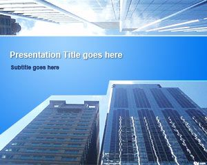 Business Skyscrapers PowerPoint Template is a nice business PowerPoint template with blue colors and skyscraper photo in the slide design that you can use to decorate your presentations with unique and impressive slides