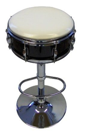 Nice barstool made with a repurposed snare drum!