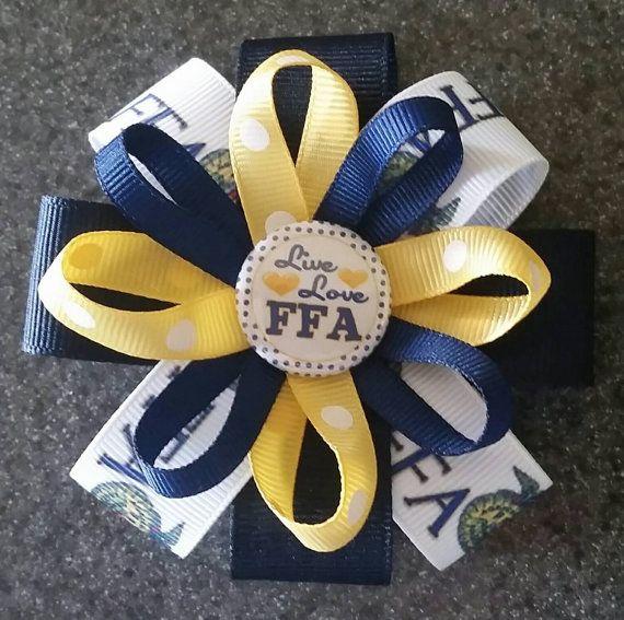 Hey, I found this really awesome Etsy listing at https://www.etsy.com/listing/241470020/ffa-hair-bow-or-headband-future-farmers