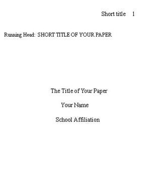 Write a Title Page in APA Format with These Tips: The title page is an important element of your APA format paper.