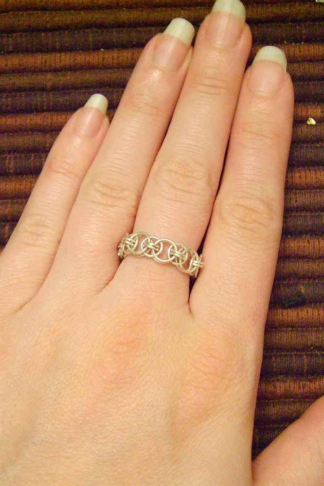Sterling+Silver+Open+Chainmail+Ring