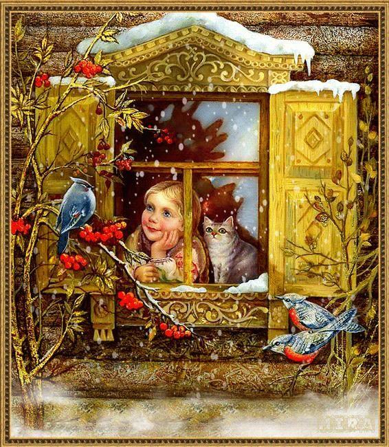 Открытки  в русском стиле Людмилы Романовой (ведущего художника «Лида – студия»)