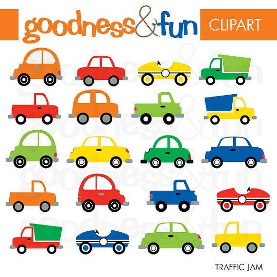 Buy 2 Sets, Get 2 Sets FREE - Digital Clipart  - Traffic Jam via Etsy