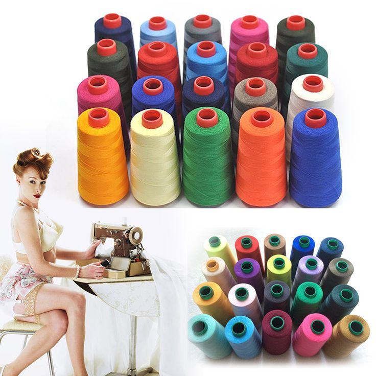 New Practical 3000M Yards Overlocking Sewing Machine Industrial Polyester Thread Metre Cones Several Colors Available #45317