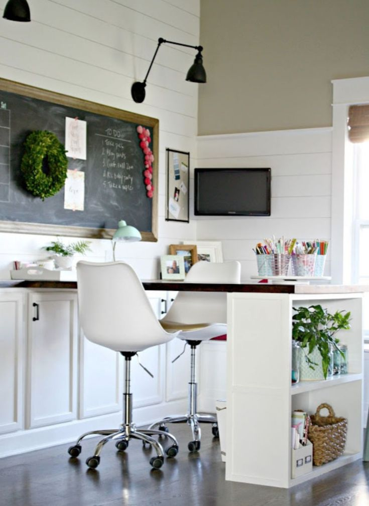25 farmhouse office desk ideas in 2020 craft room