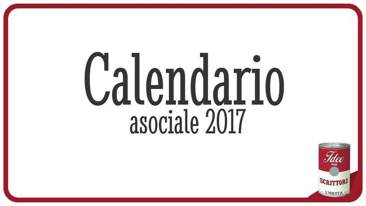 Calendario asociale 2017. Evitare gli altri per dodici mesi.