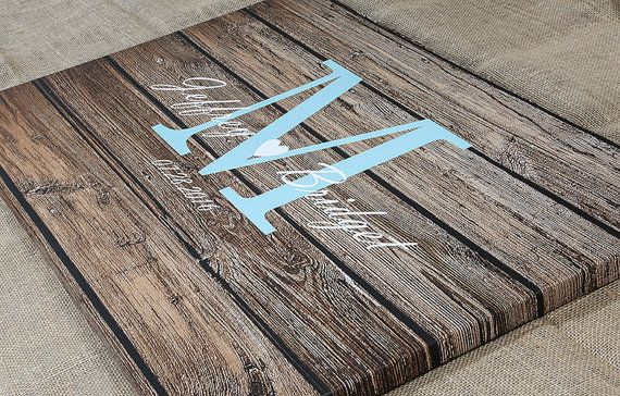 Wedding Guest Book Alternative Rustic by thumbprintguestbook