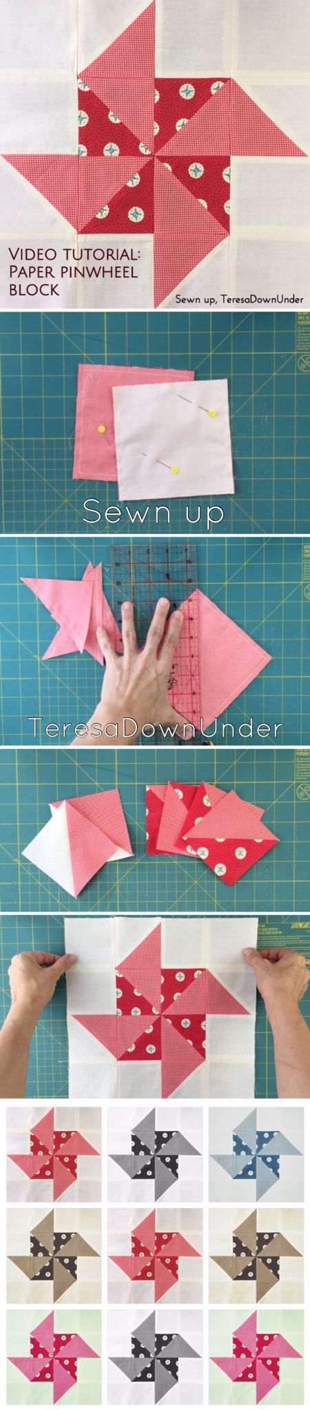 Video tutorial: paper pinwheel quilt block