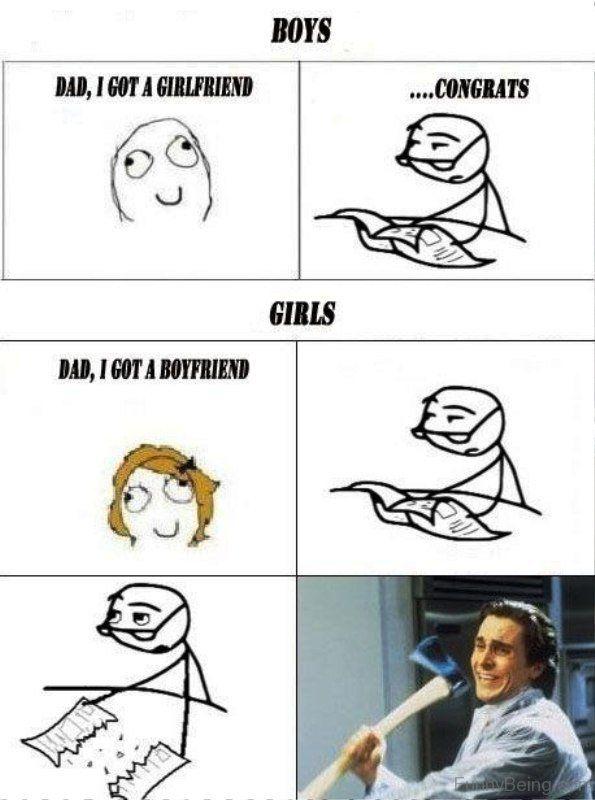 Boyfriend Vs Girlfriend Meme Funny Memes About Girls Funny Jokes To Tell Funny Girlfriend Memes
