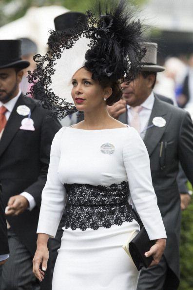 Princess Haya, June 19, 2014, Royal Ascot, in Philip Treacy   Royal Hats