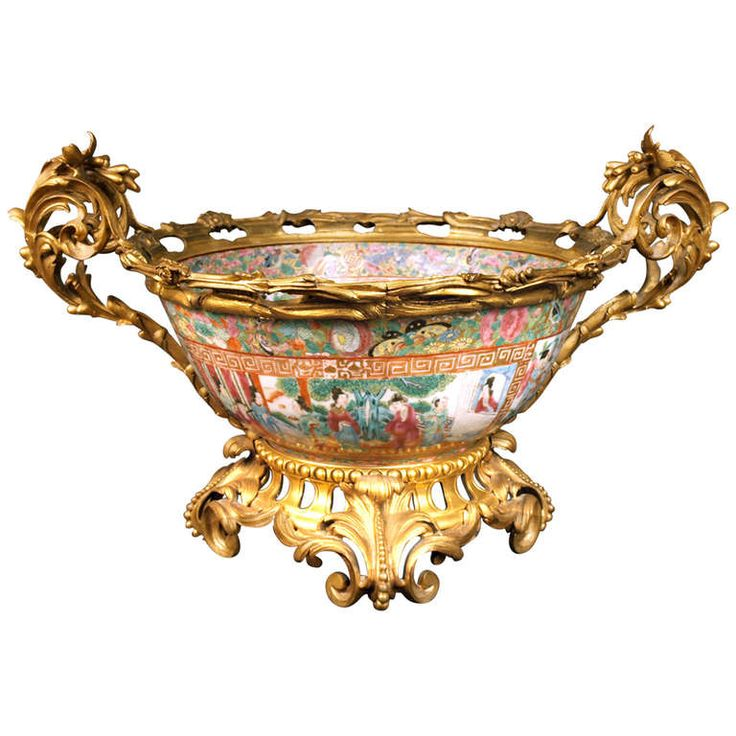 19th Century Cantonese Punch Bowl | From a unique collection of antique and modern more asian art, objects and furniture at http://www.1stdibs.com/furniture/asian-art-furniture/more-asian-art-furniture/