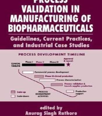 Process Validation In Manufacturing Of Biopharmaceuticals By Gail Sofer PDF