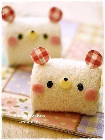 cute bread for bento :D