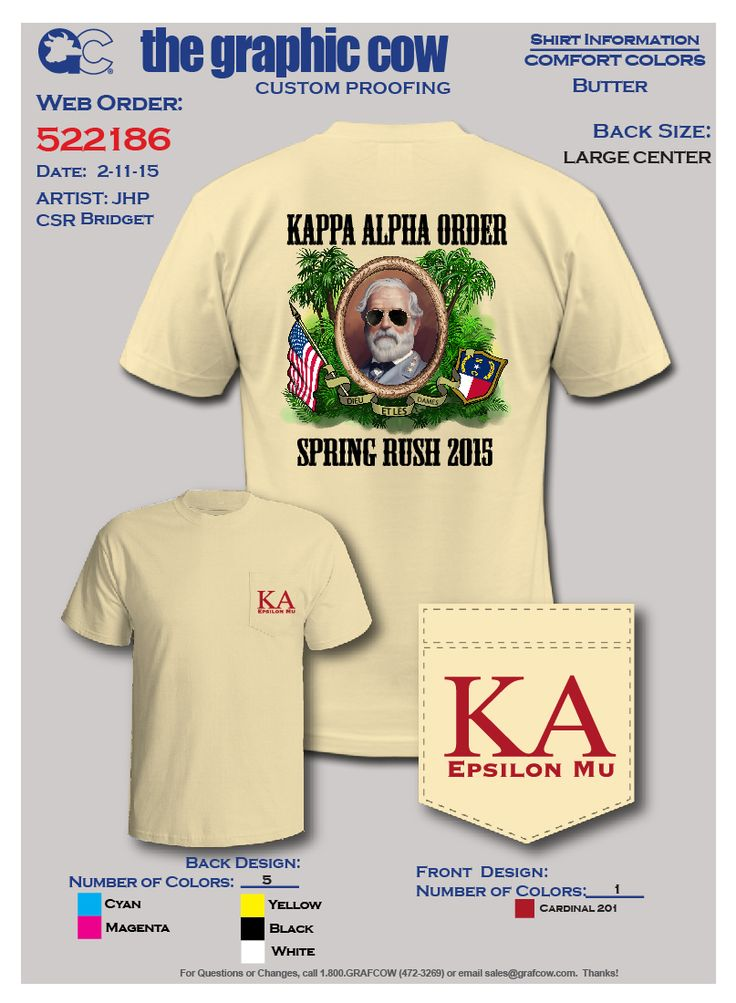 Kappa Alpha Order Robert E. Lee Label Design