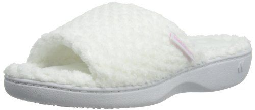 Isotoner Popcorn Open Toe Terry Mule Slippers Damen Hausschuhe -  http://on-line-kaufen.de/isotoner/isotoner-popcorn-open-toe-terry-mule- slippers | Pinterest ...