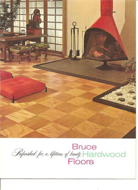 Bruce Hardwood Floors 1960s Brochure Retro Decor. $1.99, via Etsy.