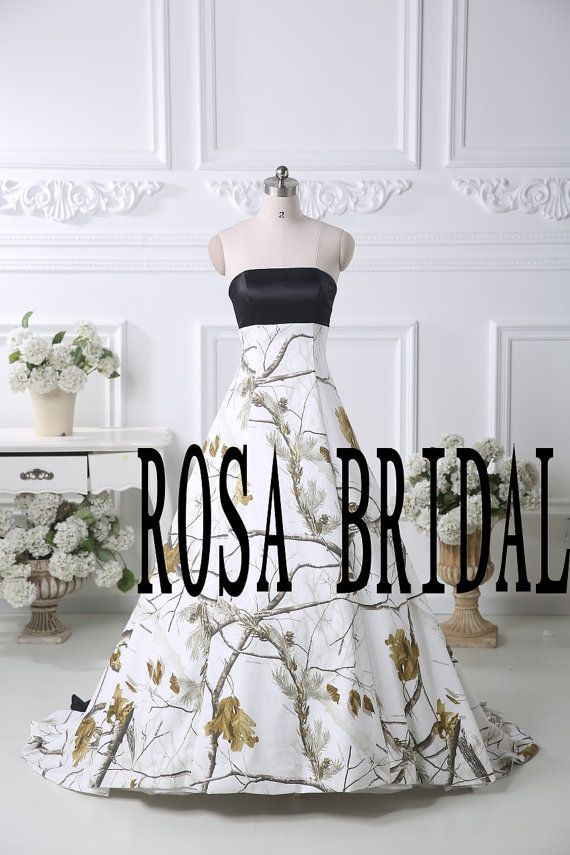 Camo wedding dress Camouflage wedding gown Camo A by rosabridal