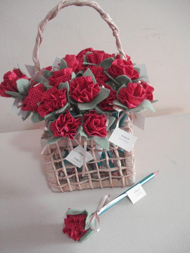 lapis decorado - rose pencil