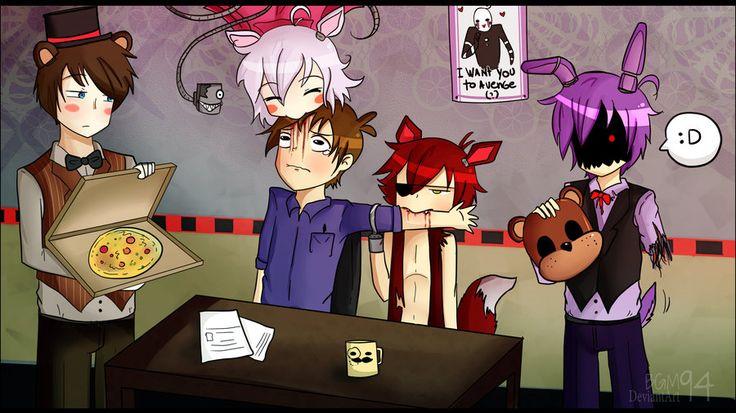 Fnaf game over imagenes de fnaf anime fnaf dibujos