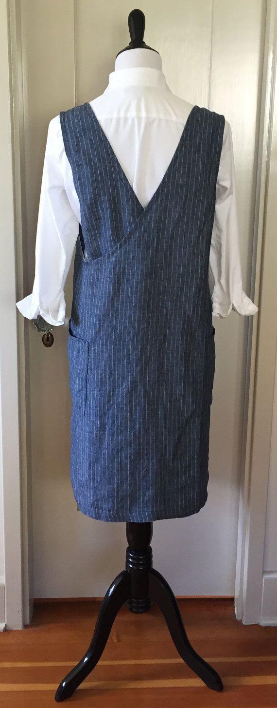 White apron pinafore - Washed Linen Squared Cross Back Pinafore Smock By Virginiaway Japanese Apron Smock Pinafore Layering Clothing Dress