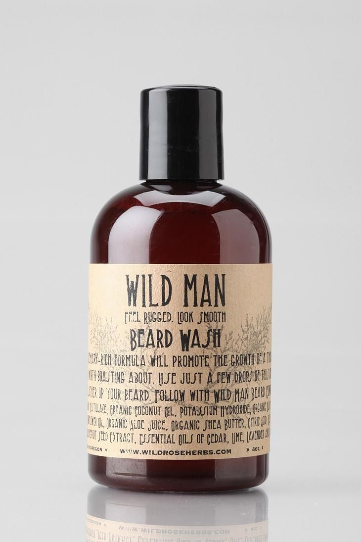 Keep your beard in check with Wild Man Beard Wash. #urbanoutfitters