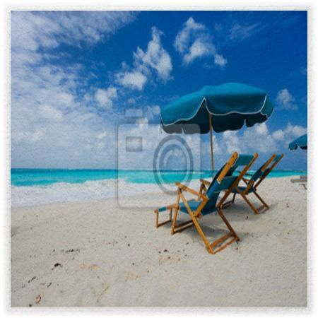 Beach Chairs And Umbrella Wall Mural At Http://www.visionbedding.com