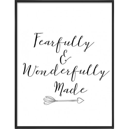 Fearfully Wonderfully Made art print-43