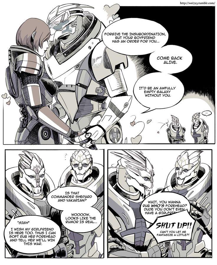 Garrus and Shepard Romance