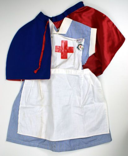 VINTAGE-1960-70s-PRAIRIE-FAERIE-GLEN-PLAY-CLOTHES-NURSE-OUTFIT