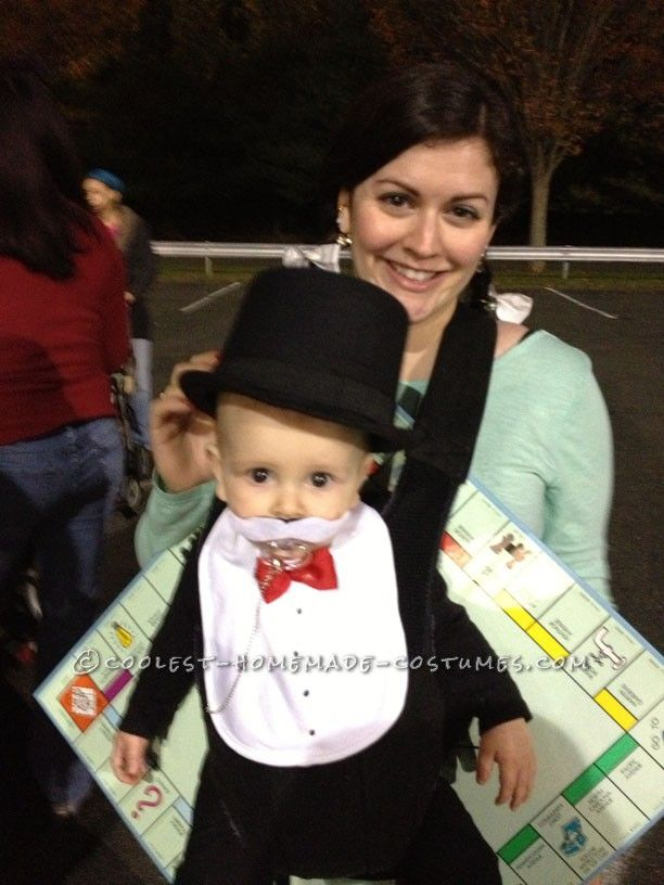 coolest baby halloween costume rich uncle pennybags from monopoly - Halloween Costume Ideas Mustache