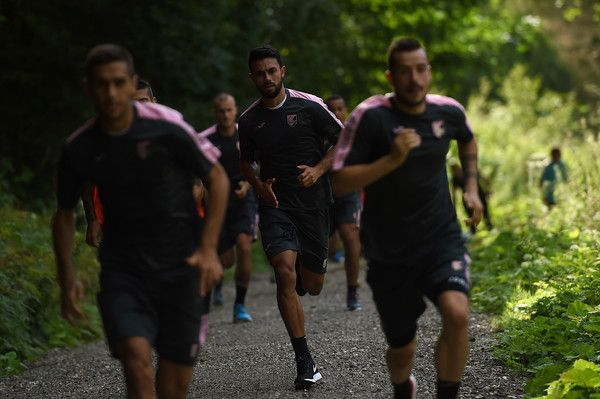 Giancarlo Gonzalez in action a training session at US Citta' di Palermo training base on July 18, 2016 in Bad Kleinkirchheim, Austria.