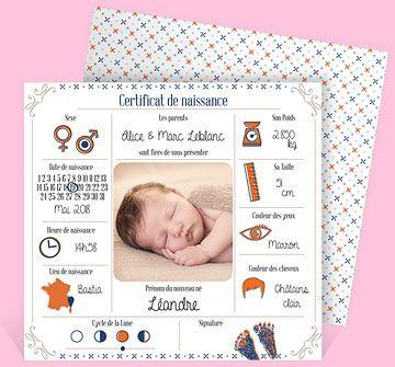 Faire-part naissance réf. N311113 chez monFairePart.com