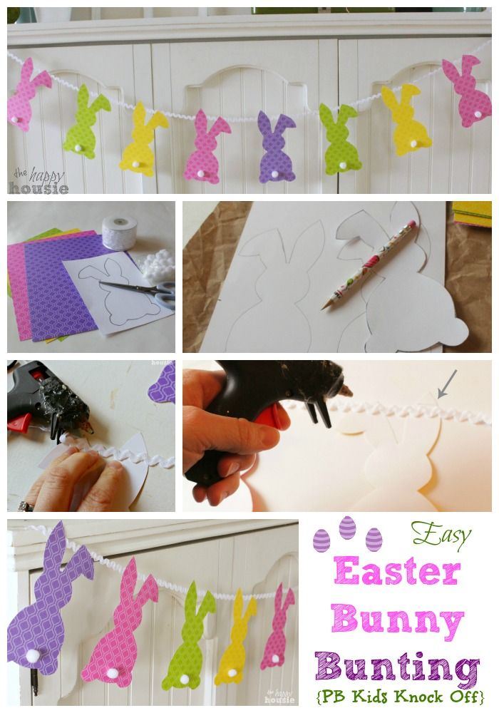 Easy Easter Bunny Bunting how to at The Happy Housie