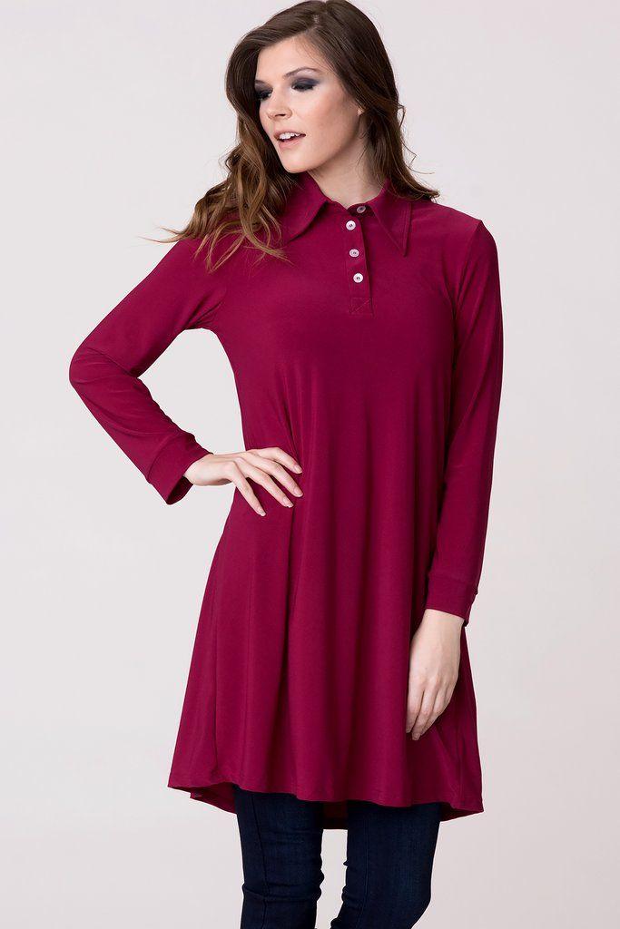 5940267a2e1d Everyday Navy Dress Shirt. Navy blue dress shirt. Casual dress shirt.  Everyday shirt. Everyday dress shirt. Raspberry red dress shirt with  buttons.