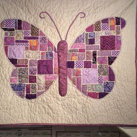 524 best butterfly quilts images on Pinterest | Butterflies ... : butterfly baby quilt pattern - Adamdwight.com