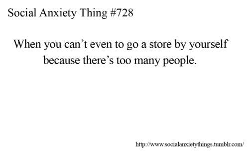 Social Anxiety Things