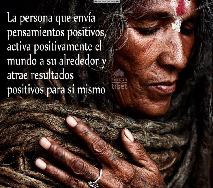 La persona que envía pensamientos positivos, activa ....