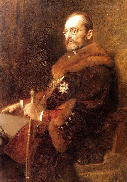 Painting of Hungarian statesman István Tisza (1861–1918) - On June 28, 1914, Gavrilo Princip assassinated Archduke Franz Ferdinand of Austria. Before entering the war, only the prime minister Count István Tisza hesitated, unconvinced that it was the best time to engage in battle.