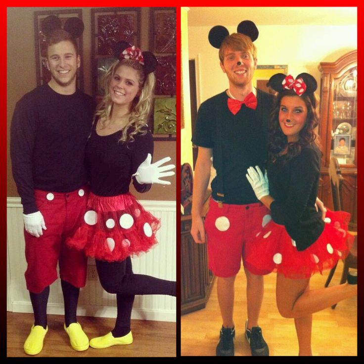 Couples mickey & minnie costume