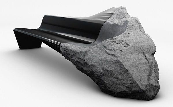 Скамья из лавы