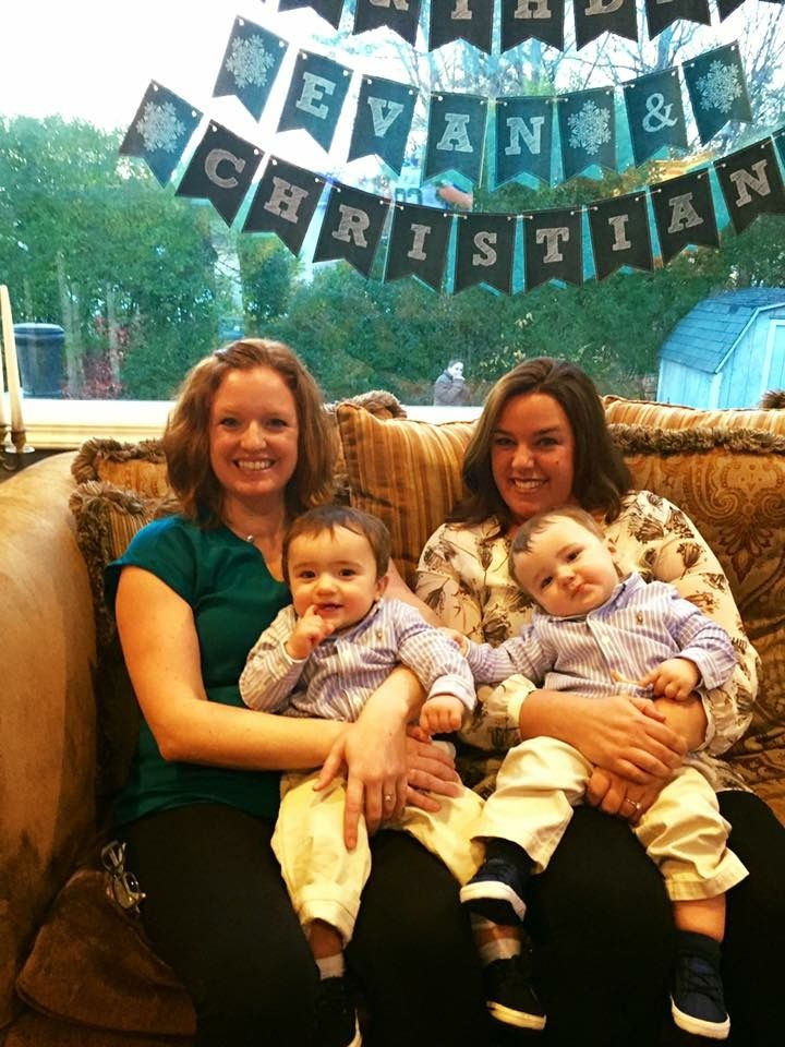 My twin sisters with my twin boys
