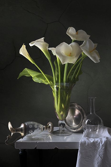 """""""Calla lilies"""". Prints available here: http://fineartamerica.com/featured/calla-lilies-giovanni-allievi.html #floral #flowers #prints #canvas"""