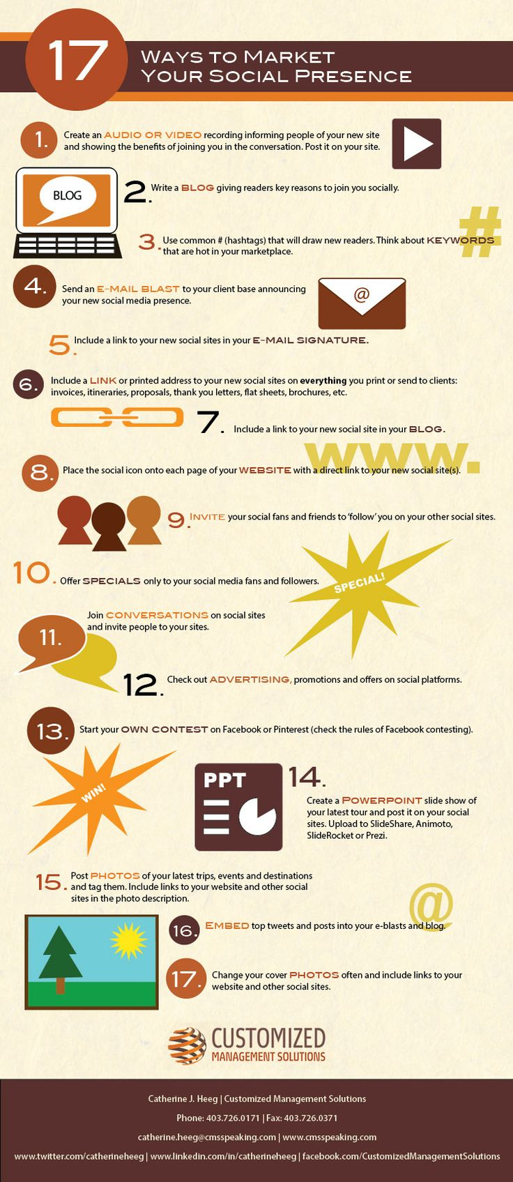 17 Ways to Market your Social Presence #Marketing #socialMedia #Facebook #Twitter #Google #Blog