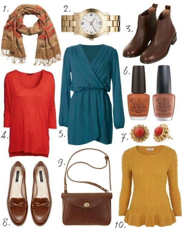 vibrant autumn wardrobe colour palette