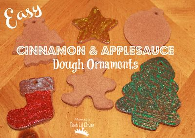 EASY Cinnamon & Applesauce Ornaments - no cooking or baking necessary! They smell so yummy. Have you tried them yet?