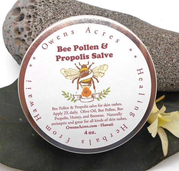 ♥~~~~~~~~~~~~~~~~~~~~~~~ ♥ Item Details ♥ ~~~~~~~~~~~~~~~~~~~~~~♥ A Natural and healing skin antiseptic and fungal fighter. Bee Propolis contains anti-inflammatory, anti-viral, anti-microbial and anti-fungal properties. Propolis has been used for centuries to enhance the immune system, on various skin conditions, aid for viral infections. Perfect salve to keep on hand! We use organic bee pollen and propolis for this potent salve. Has a natural scent and natural yellow color. Safe for…