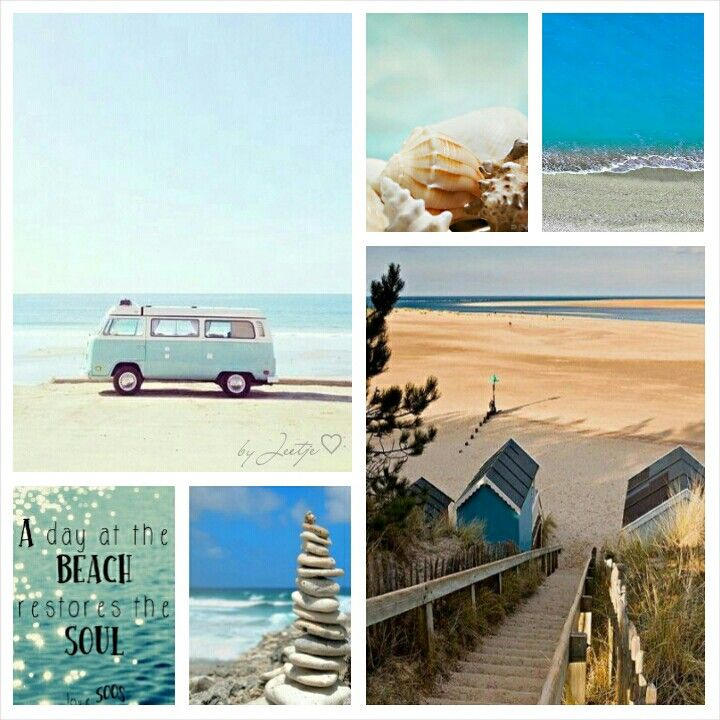 A day at the beach.. #Moodboard #Collage #Mosaic by Jeetje♡