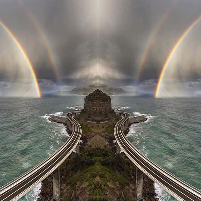 Sea Cliff Bridge, Australia  Photo Credit: @david_wimble Tag your friends