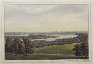 Battersea, Chelsea, & London, from Mr. Rucker's Villa. by Joseph Constantine Stadler after Joseph Faringdon